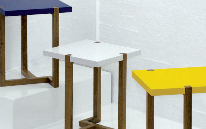 Blue Piet Side Table fsf