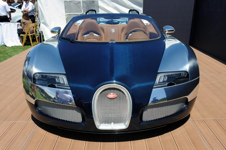 Bugatti Grand Sport Sang Bleu live from the Quail Lodge. sang bleu