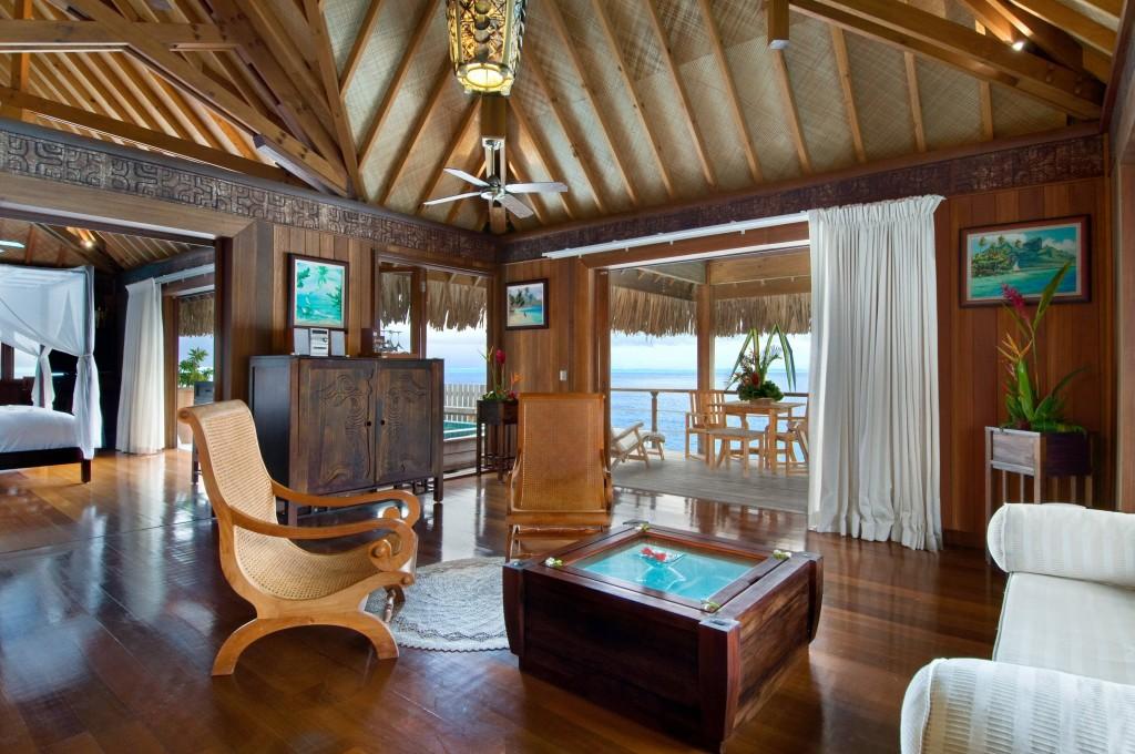 Le Méridien Bora Bora | Treasure of pleasure Hilton Bora Bora Nui Overwater Suite Interior1