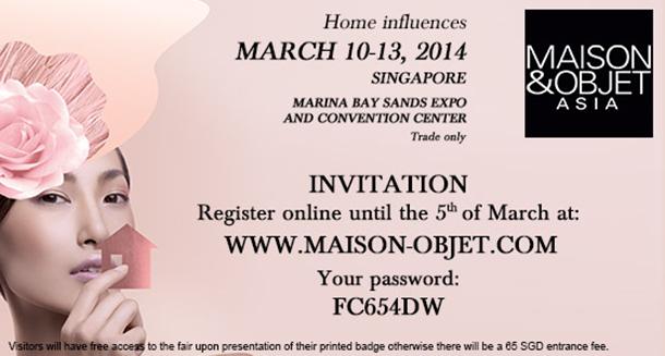 MO_Asia  Countdown to Maison and Objet Singapore MO Asia  code invit