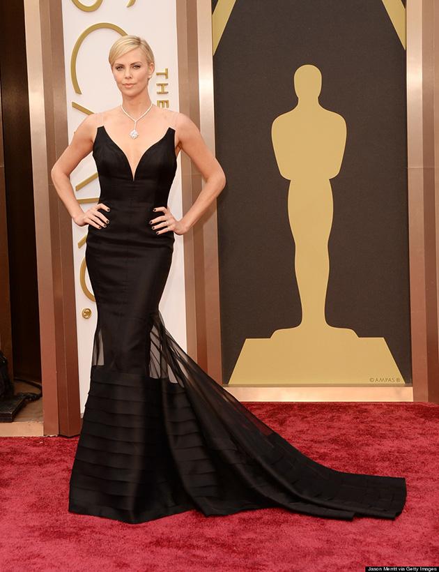86th Annual Academy Awards - Arrivals  The 2014 Oscars Best-Dressed The 2014 Oscars Best Dressed CHARLIZE THERON