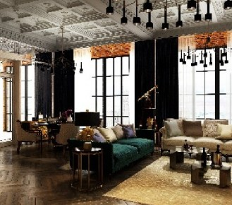 luxury interiors: eclectic lounge room