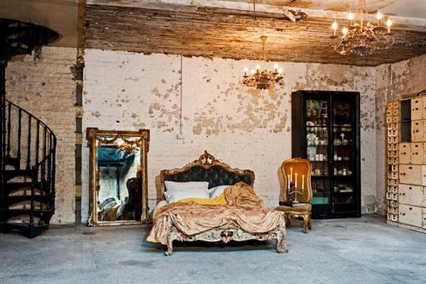UNIQUE INTERIOR DESIGN STYLE                          dirty chic interiors 07